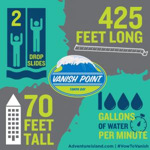 A nova atração Vanish Point será inaugurada em março no Adventure Island