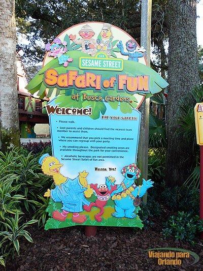 Busch Gardens também é um parque para as crianças
