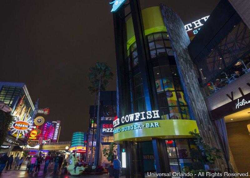 O restaurante The Cowfish foi inaugurado oficialmente em CityWalk