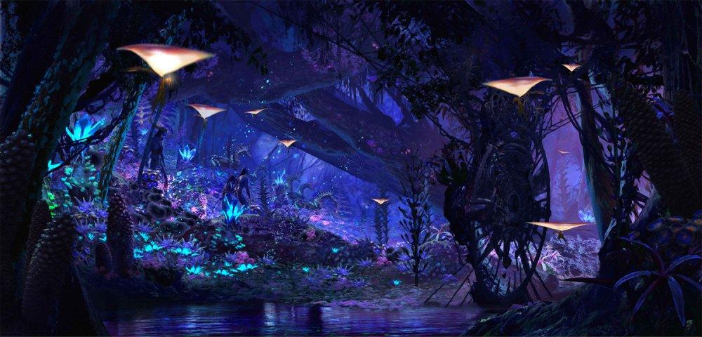A Disney divulgou uma imagem da futura atração Na'vi River Journey de Pandora – The World of Avatar