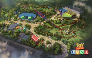 Mais informações sobre as atrações Slinky Dog Dash e Alien Swirling Saucers de Toy Story Land
