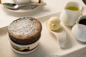 Suflé de chocolate do restaurante italiano Palo