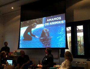 O VPO participou da coletiva do SeaWorld sobre o programa Curtir & Preservar