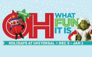Conheça as festividades de fim de ano do complexo Universal Orlando Resort