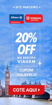 Allianz - Seguro Viagem - Cupom de 20% de Desconto