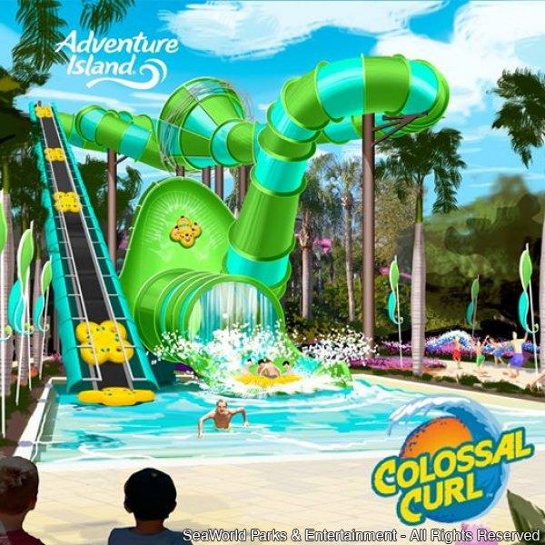 Colossal Curl será a novidade refrescante do Adventure Island em 2015
