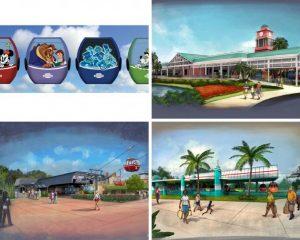 Novos esboços e informações sobre o sistema de gôndolas Disney Skyliner foram revelados