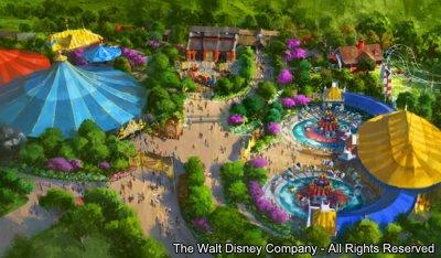 A primeira parte da expansão de Fantasyland – Storybook Circus – Magic Kingdom – será inaugurada no final de março