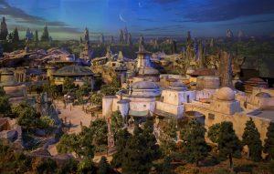 Foi revelado na D23 Expo o modelo detalhado das novas áreas temáticas inspiradas em Star Wars