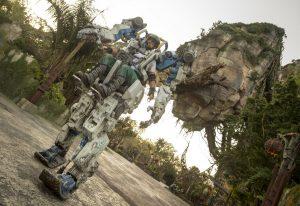 Um imponentetraje mecânicopoderá ser visto em Pandora – The World of Avatar a partir de 22 de abril de 2018