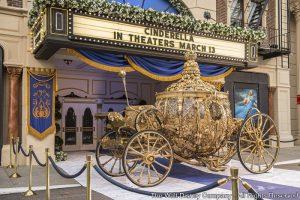 E a carruagem dourada da Cinderella já está em exposição no Disney's Hollywood Studios