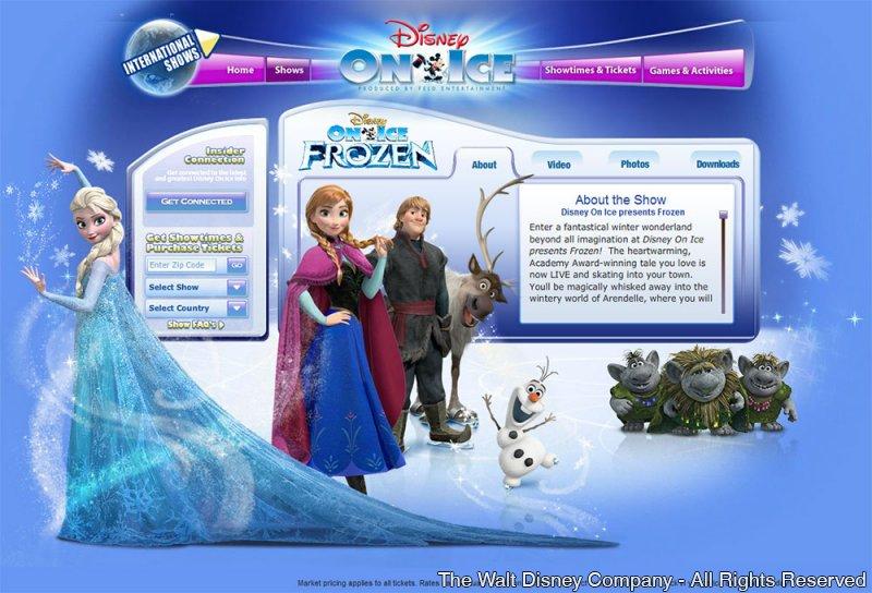 Frozen – Disney On Ice – em Orlando nos dias 5, 6 e 7 de setembro de 2014