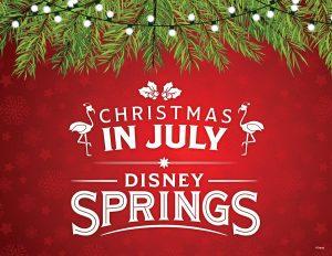 A celebração Christmas in July será realizada de 15 a 30 de julho em Disney Springs
