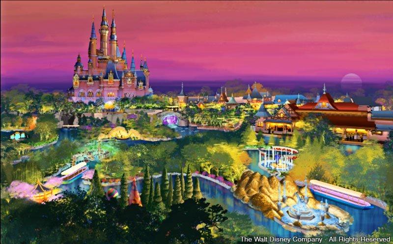 Disney revela detalhes sobre o seu primeiro parque temático na China