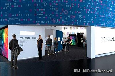 Nova exposição da IBM denominada THINK no pavilhão Innoventions West