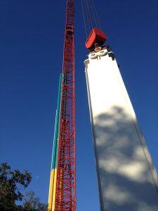 Busch Gardens Tampa divulga novas imagens da construção da Falcon's Fury