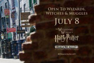 Em 08 de julho será inaugurada The Wizarding World of Harry Potter – Diagon Alley