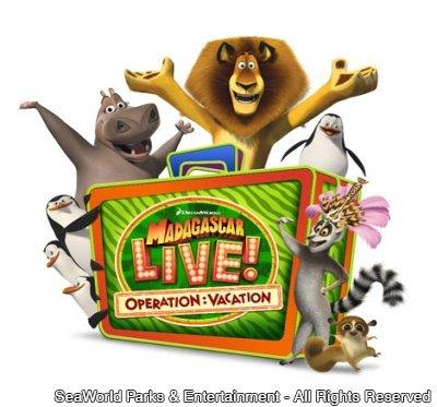 Novo show no Busch Gardens – Madagascar Live! Operation: Vacation