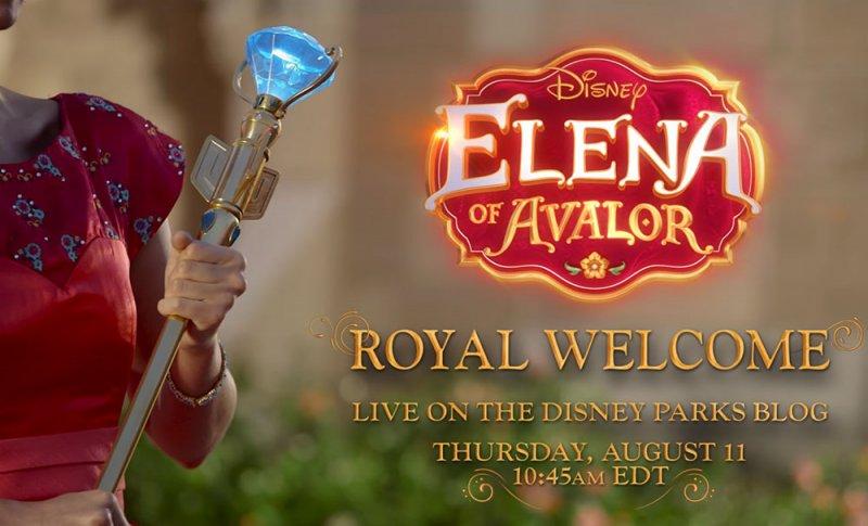 Assista ao vivo a chegada da Princesa Elena de Avalor ao parque Magic Kingdom no próximo dia 11 de agosto