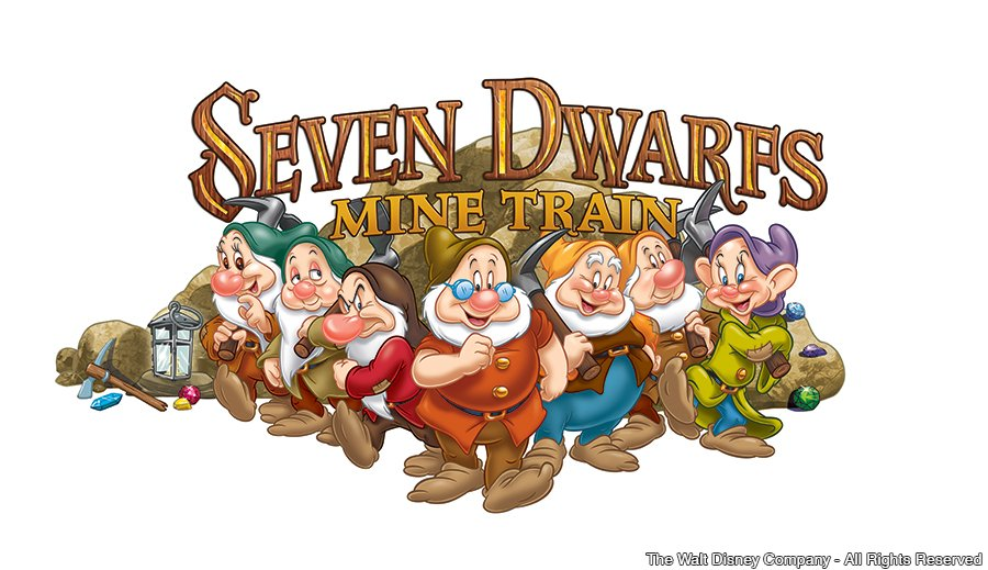Divulgado o logotipo da atração Seven Dwarfs Mine Train do parque Magic Kingdom