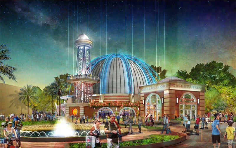 O Planet Hollywood será remodelado e transformado num observatório