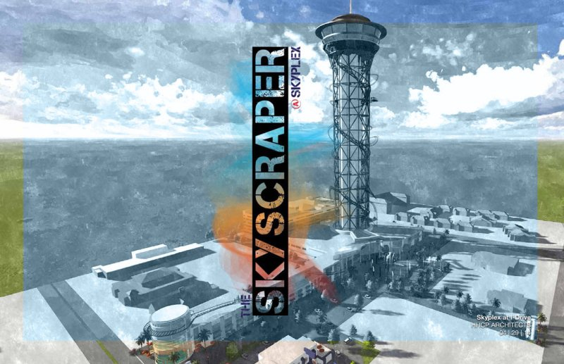 Conheça o percurso da montanha-russa Skyscraper