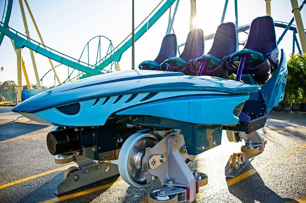SeaWorld revela maiores detalhes a respeito do carrinho da nova montanha-russa Mako