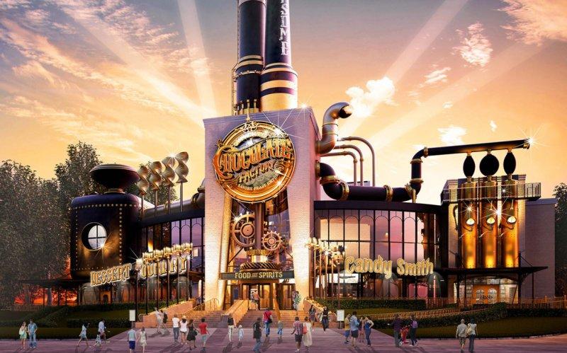A Universal anunciou o restaurante Toothsome Chocolate Factory & Savory Feast Emporium que será construído no Universal CityWalk