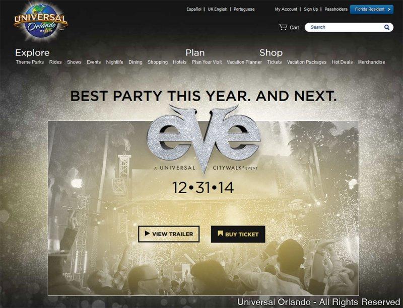 Venha celebrar a chegada de 2015 na festa New Year's Eve at Universal CityWalk