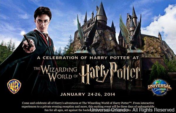 A Universal disponibilizou pacotes para os eventos em celebração a Harry Potter que serão realizados em janeiro de 2014