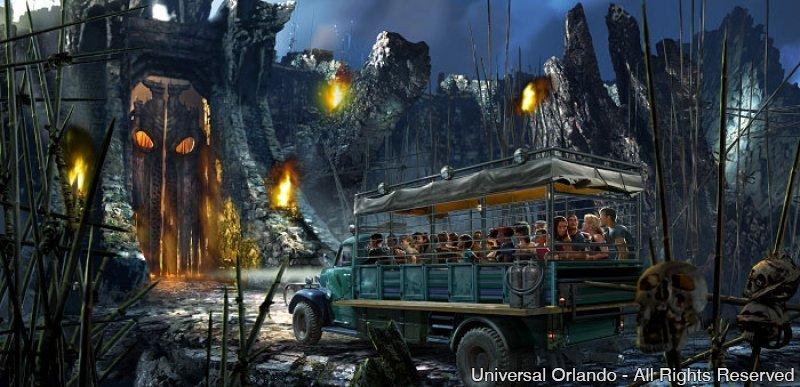 King Kong ganha vida no Universal Orlando Resort na atração Skull Island: Reign of Kong