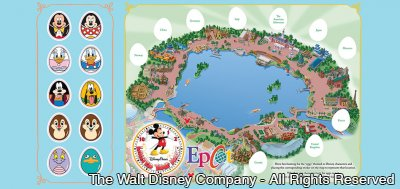 "Vinylmation ""Easter Egg"" Hunt no parque Epcot – Limited Time Magic"