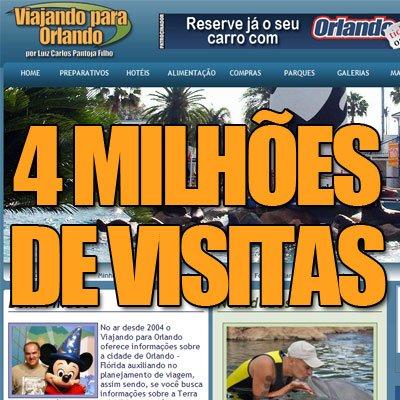 Viajando para Orlando – 04 Milhões de Visitas