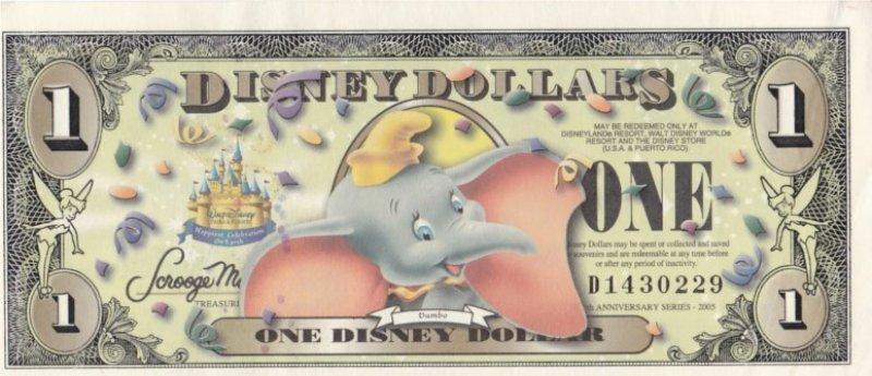 Os dólares Disney não estão mais disponíveis para aquisição