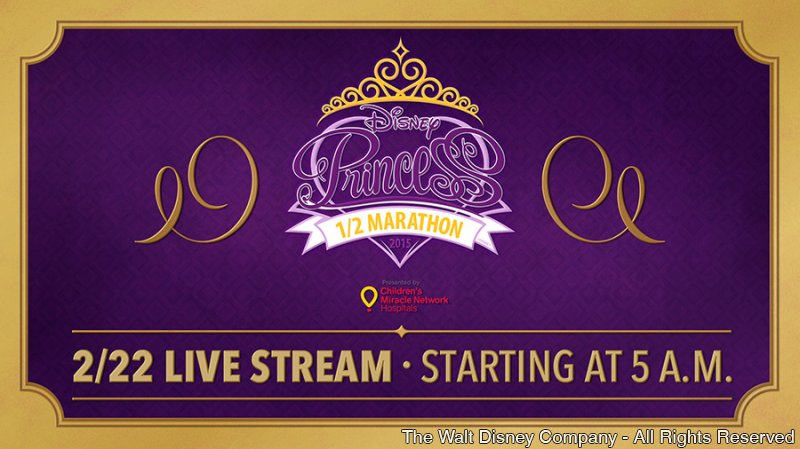 A Disney Princess Half Marathon será transmitida ao vivo