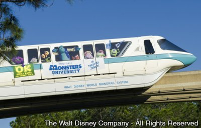 Monorail presta homenagem ao novo filme da Disney•Pixar – Monsters University