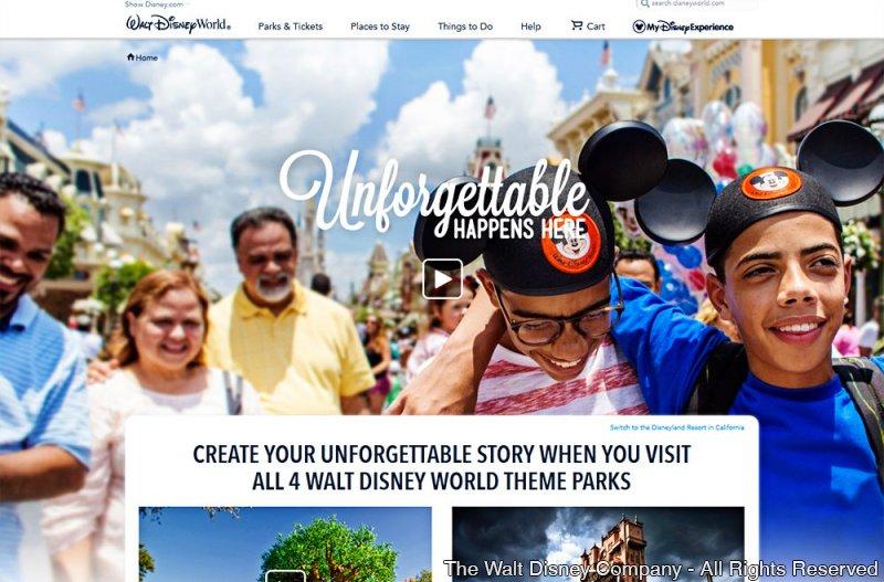 A Disney está lançando a campanha Unforgettable Happens Here