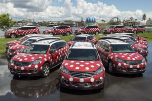 Serviço Minnie Van disponível entre os hotéis do Walt Disney World Resort e o Aeroporto Internacional de Orlando
