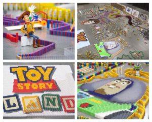 Conheça o elaborado labirinto de dominós criado para celebrar Toy Story Land