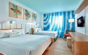 Veja as primeiras imagens dos quartos do Universal's Endless Summer Resort – Surfside Inn and Suites