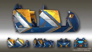 A Disney revelou o veículo projetado para a nova montanha-russa inspirada em Guardians of the Galaxy