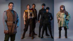 Trajes dos membros do elenco que atuarão no Black Spire Outpost