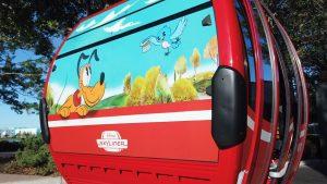 A Disney segue testando o novo sistema de transporte -Disney Skyliner