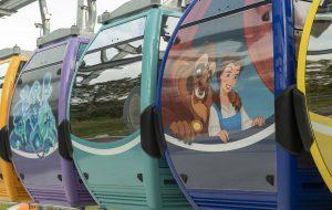 A Disney revelou 64 gôndolas do sistema Disney Skyliner