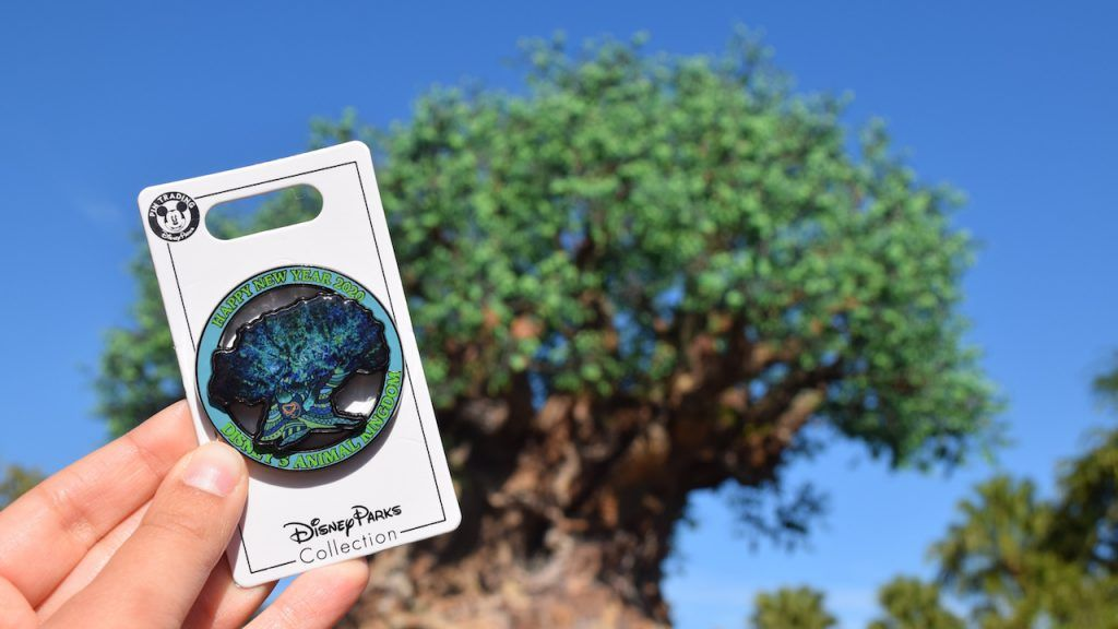 Troca de pins na Véspera do Ano Novo no Disney's Animal Kingdom