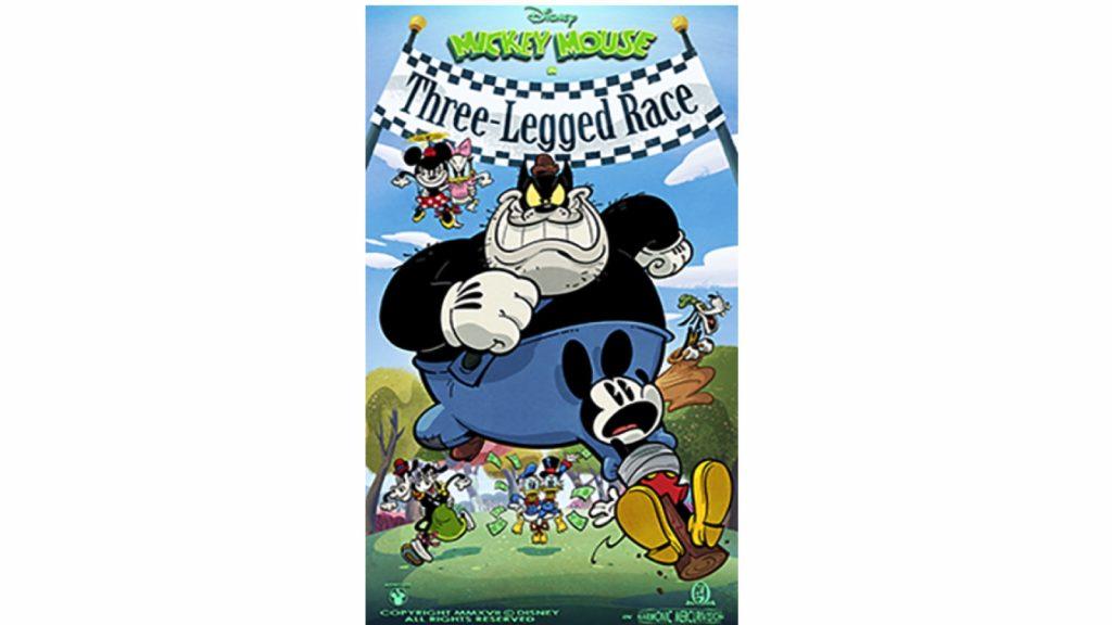 """Poster art for """"Three-Legged Race"""" video short"""