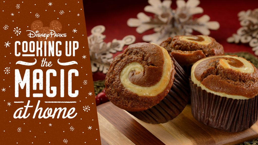 #DisneyMagicMoments: Cooking Up the Magic at Home  Celebrate National Gingerbread Day With Our Gingerbread Cream Cheese Muffin Recipe