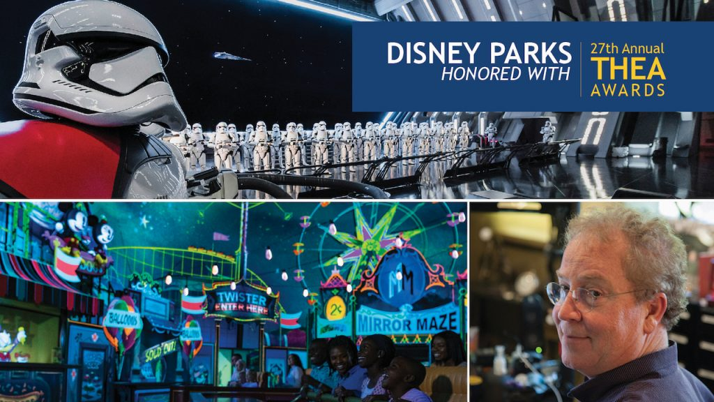 Themed Entertainment Association Honors Disney with Two Thea Awards for Outstanding Achievement and Recognizes Walt Disney Imagineering President Bob Weis for a Lifetime of Distinguished Achievements