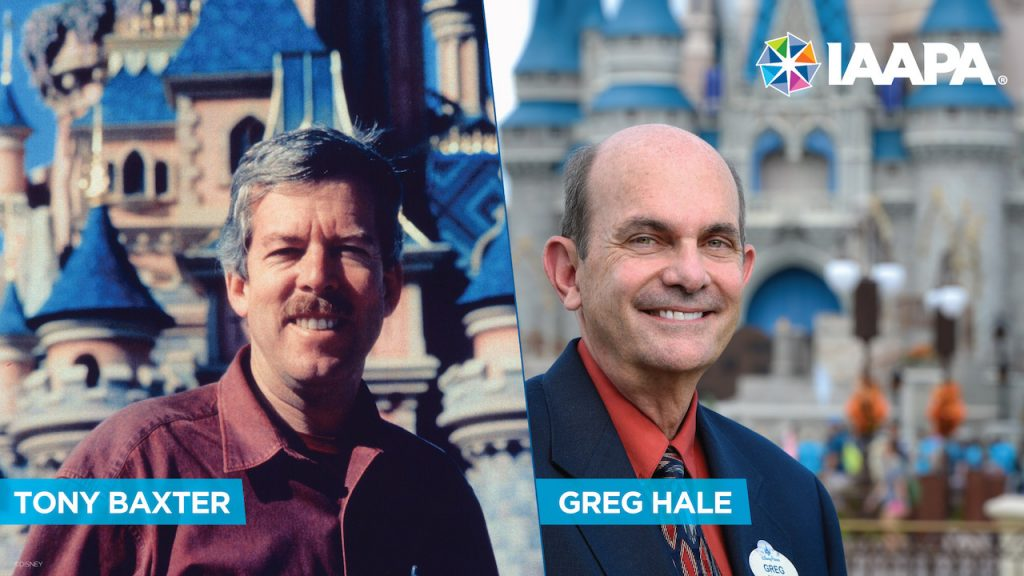former Walt Disney Imagineering creative executive Tony Baxter and Disney Parks chief safety officer Greg Hale