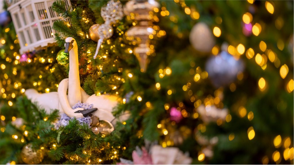 Holiday decorations at Disneys Grand Floridian Resort & Spa